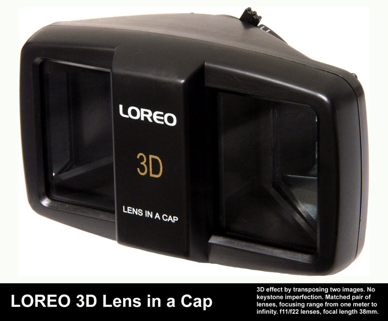 Loreo 3D lens in a cap - click here to go to their website